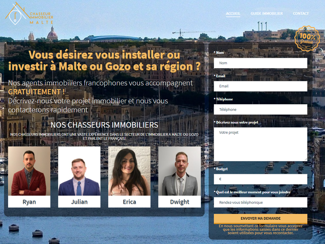 Chasseur immobilier Malte